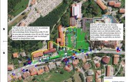 Obvestilo o spremembi prometne ureditve in novo vodenje pešcev na območju gradbišča v bližini šole